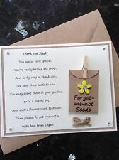 Personalised Thank You Poem Gift Magnet. Pre-school/Nursery/Teacher/Assistant Y