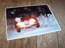 Photo / Photograph  Stig Blomqvist SAAB 96 V4  1973 Swedish Rally //