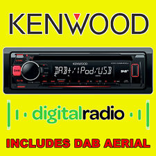 KENWOOD DAB Digital Radio estéreo de coche camioneta CD MP3 USB iPod iPhone Listo Antena Nuevo