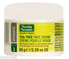 Thursday Plantation Australian Tea Tree FACE CREAM Moisturiser 65g Rosehip/Vit E