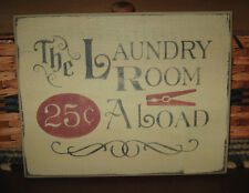 PRIMITIVE  COUNTRY THE LAUNDRY ROOM SIGN