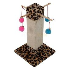 "20"" Cat Condo Multifunction Scratching Post Pet Cat Tree Toy Leopard Print"