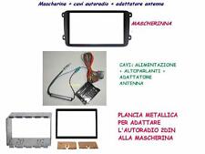kit VW GOLF 5 dal 2003 MASCHERINA AUTORADIO + PLANCIA MET.+connettore- 2DIN-2ISO