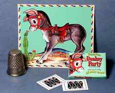 Dollhouse Miniature 1:12 Pin the Tail on the Donkey Game 1940s 1950s retro party