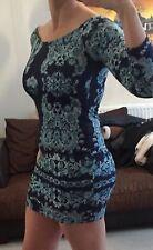 Boohoo Off Shoulder Bodycon Stretchy Sexy Mini Dress Sz 10 BNWT