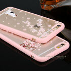Shockproof Hybrid Sakura Pattern Clear Hard Back Case Cover For iPhone 6 6s Plus