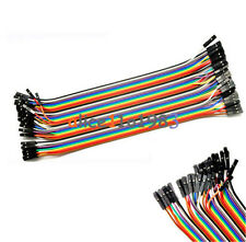 400PCS 10X40 Dupont wire jumper cable pin connector 2.54mm 20cm Female to