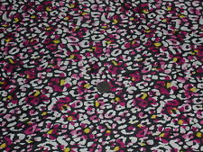 STRETCH SATIN -PANSY FLORAL -DRESS FABRIC - 1.75 METRES
