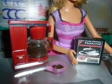 BARBIE DOLL SIZE KITCHEN ACCESSORIES -  MINIATURE COFFEE MAKER REALISTIC DETAILS