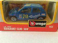 BBURAGO BURAGO RENAULT CLIO 16V COD. 4160 ANNEE 1983 ECHELLE 1/43 EN BOITE