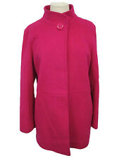 Cinzia Rocca Women's Size 12 Due Stand Collar Coat Geranium Jacket MSRP $925 H99