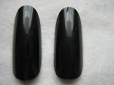 50 x BLACK  FULL OVAL HEAD/ ROUND STILETTO WHOLE NAIL