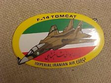 VINTAGE GRUMMAN F-14 TOMCAT IRANIAN AIR FORCE STICKER / DECAL - LARGE 9 1/2""