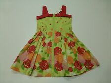 Pumpkin Patch Girls Size 6 Green Hawiian Tropics Floral Dress New