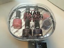 The Color Workshop Minin Nail Salon 8 Piece Collection Grey Case NEW