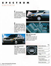 1988 Chevy SPECTRUM Brochure / Catalog with Color Chart: CL, TURBO, SPORT,