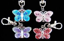 Christmas Gifts Wholesale 10 pcs small Butterfly design Key Ring watches L51