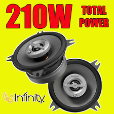 INFINITY 210W TOTAL 2WAY 4 INCH 10cm CAR DOOR/SHELF COAXIAL SPEAKERS PAIR NEW