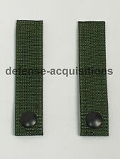 SET OF 2 Military MOLLE Replacement Straps 4.5 INCH Pouch Pack CAMO GREEN