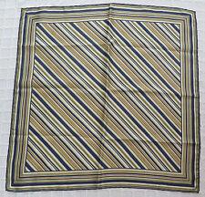 """Sciarpa di seta vintage a righe lungo 26"""" x 26"""""""
