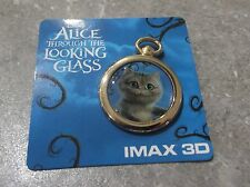 DISNEY ALICE THROUGH THE LOOKING GLASS PIN CHESHIRE CAT AMC THEATER POCKET WATCH