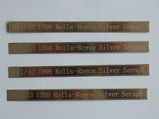 ultra rare FYP scale 1  43 Rolls Royce Bentley photo etched parts (lot 2)