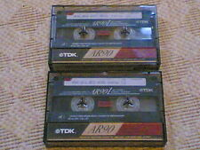 2 used blank archived AUDIO CASSETTE tapes - RARE RECORDINGS : comedy / adverts
