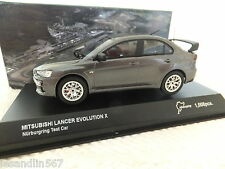 KYOSHO MITSUBISHI LANCER EVO X NURBURGRING TEST CAR METALLIC GREY 1:43  #03494NU