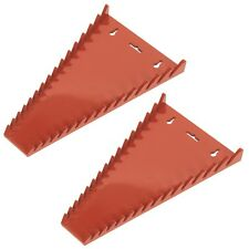 Sealey Shark Tooth 15 Spanner/Wrench/Tool Wall Storage Rack/Rail/Tray WR05 Pair