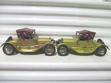 Lesney Matchbox models of Yesteryear Y6 1913 GOLD CADILLAC with Y8 SMALL WHEELS