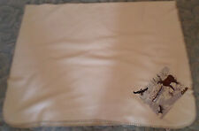 CABELA WOODLAND TRAIL CREAM COLORED DEER, DUCK, FISH EMBROIDERED THROW 42X60