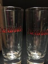 "2 Shot Glasses 4"" CAZADORES 100% TEQUILA DE AGAVE-COLLECTION FOR MAN CAVE-NEW"