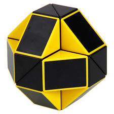 Yellow Magic Cube 3D Magic Cube Ruler Speed Cubing Twist Toy Snake Puzzle Game