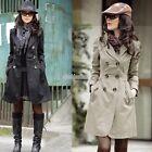 New Women Warm Winter Trench Coat Parka Overcoat Long Jacket Windbreaker Outwear