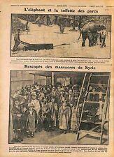 Elephant Central Park New-York USA/ Refugees of Armenia Arménie Syria WWI 1916