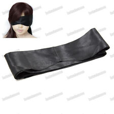 Faux Silk Eye patch Shade Mask Cover Blinder blind fold roleplay curved eyepatch
