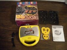 Nostalgia Electrics 2 in 1 Electric Soft Pretzel Maker Yellow SPF200  - Pre-Own