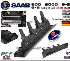 SAAB 9-3 9-5 900 9000 BLACK IGNITION COIL CASSETTE PACK MODULE 55559955 9187980