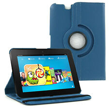 "Dark Blue 360 PU Leather Case Cover for Amazon Kindle Fire HD 7"" *2012 Ver. ONLY"