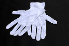 5 Pairs Professional Cotton Clean Gloves Jewelers Stamp Banknotes Coin (Mens L)