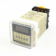 AC 220V 0.01s-99H99M Programmable Time Delay Relay DH48S-2Z With Socket Base