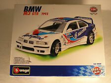 BURAGO 55034, 1993 BMW M3 GTR, METAL KIT, MADE IN ITALY, SEALED PARTS BAGS, OB