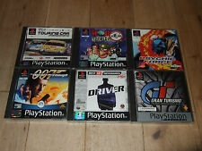 PS1/PS2 PS3 GAMES BUNDLE GRAN TURISMO DRIVER TOCA WORMS PSYCHIC FORCE BOND 007