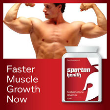 SPARTAN HEALTH TESTOSTERONE BOOSTER PILLS INCREASE T LEVELS NOW BIG MUSCLES