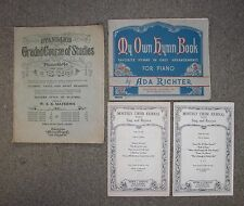 Sheet Music Books Lot of 4 Vintage Piano Course Studies Hymn Choir Song Used