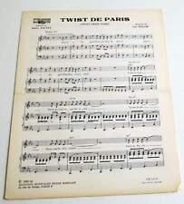 Partition sheet music DANY LOGAN / LES PIRATES : Twist de Paris * 60's