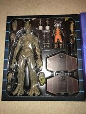 HOT TOYS SIDESHOW MMS254 GROOT AND ROCKET MIB DISPLAYED ONCE EXCLUSIVE