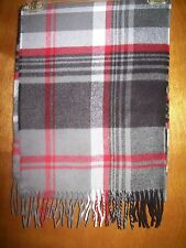 D&Y Multi-Color Softer Than Cashmere Scarf-Gray, Black, Red & White