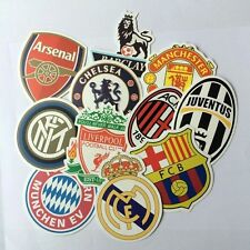 Lot of 11 Football Club Decal Stickers - Soccer Chelsea Arsenal Manchester etc
