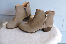Women's Lucky Brand Basel Beige Suede Ankle Boots Size 6M
